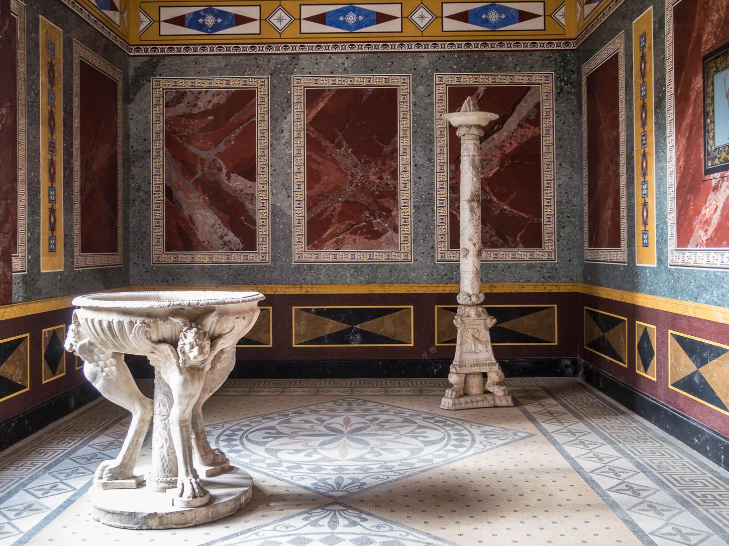 Aschaffenburg, Pompejanum, Innen