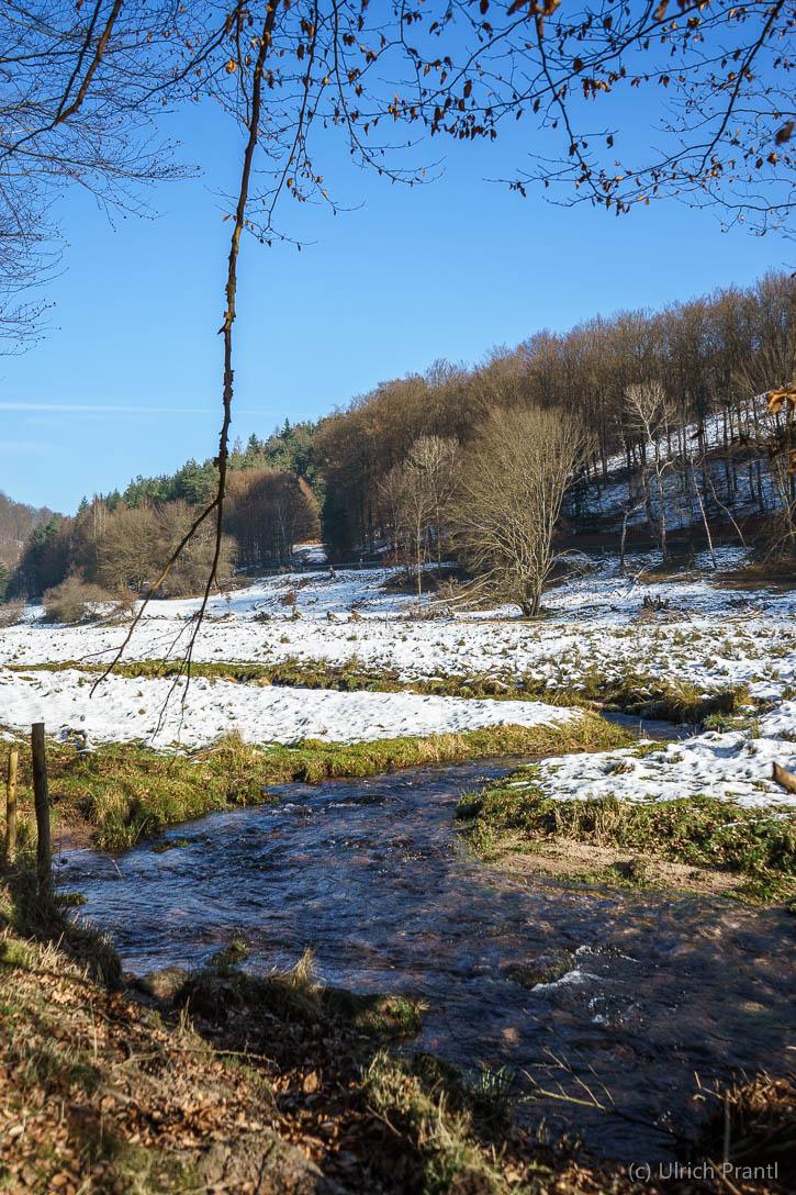 Dammbach, Dammbachtal, Schnee