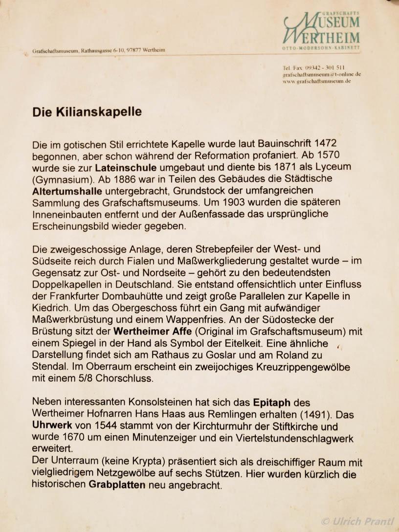 Kilianskapelle, Wertheim