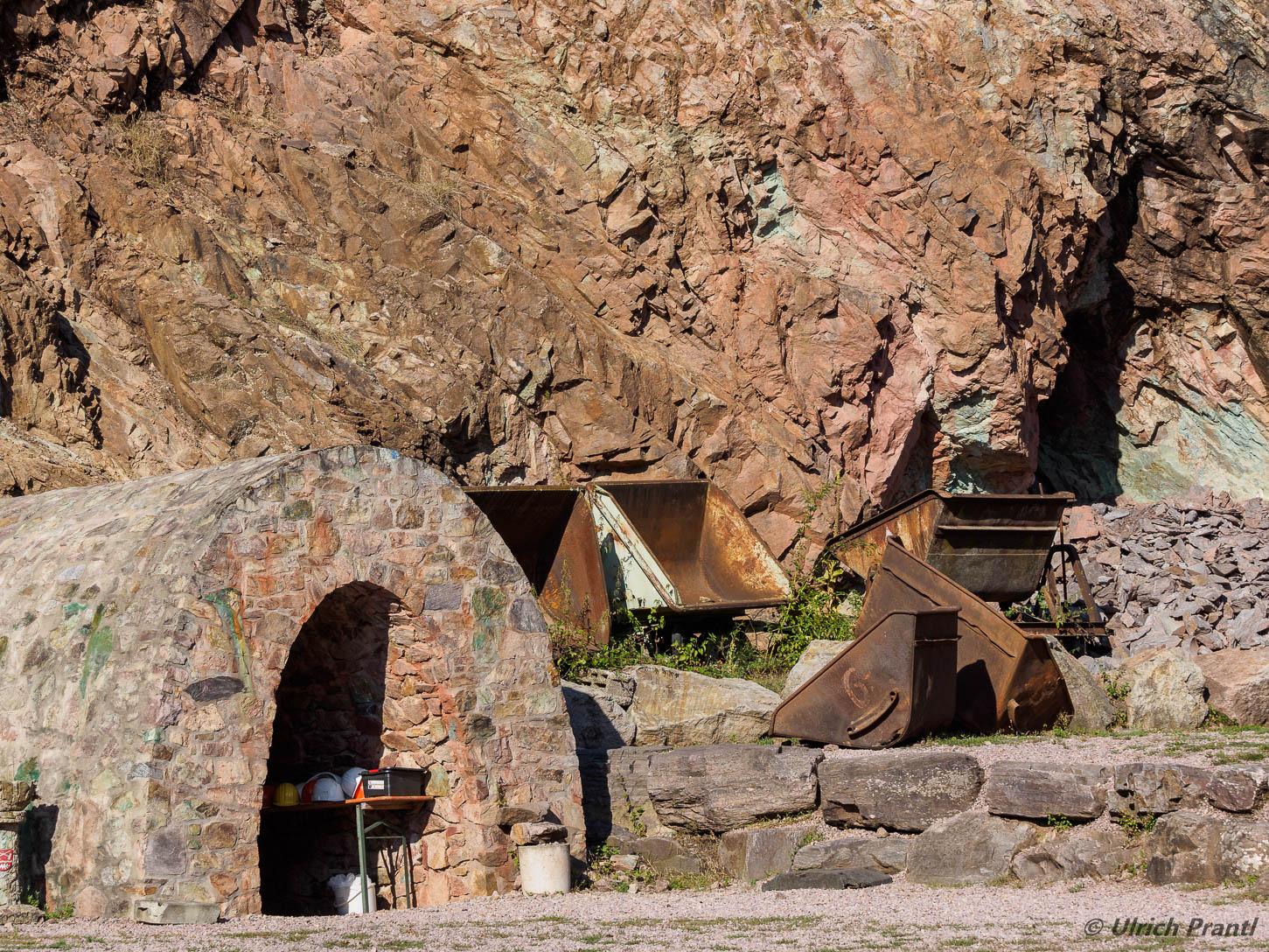 Grube Wilhelmine, Eingang, Lore