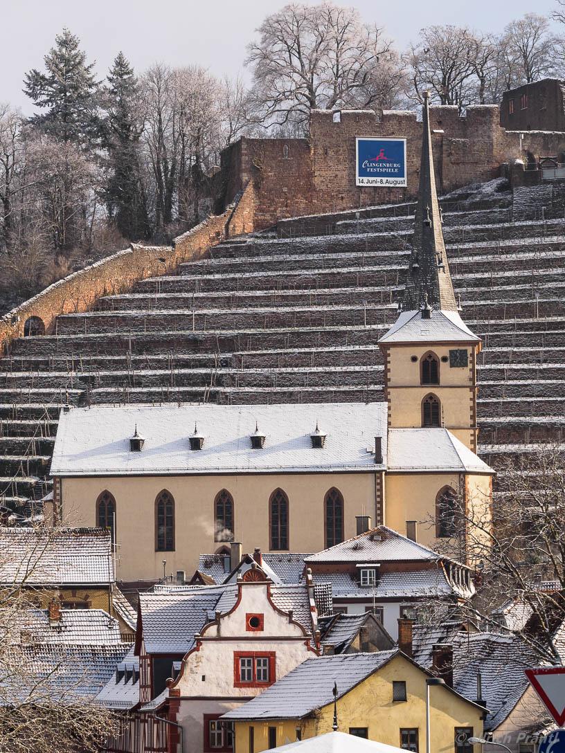 Klingenberg, Schnee, Weinberg