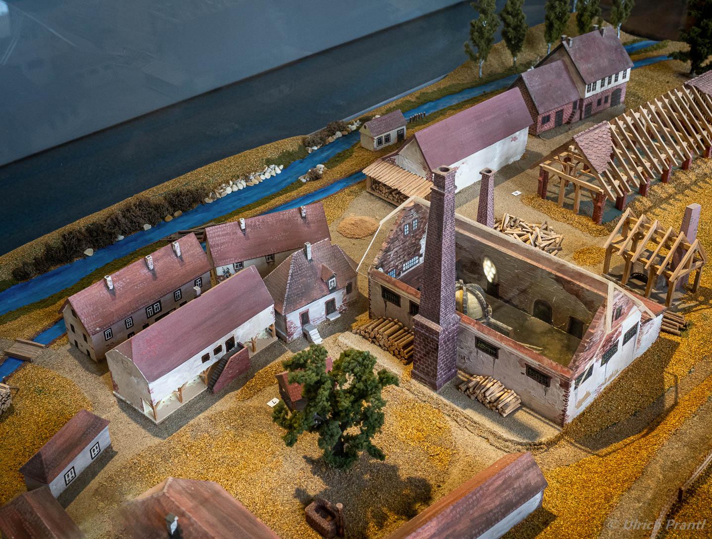 Einsiedel, Modell der Glashütte