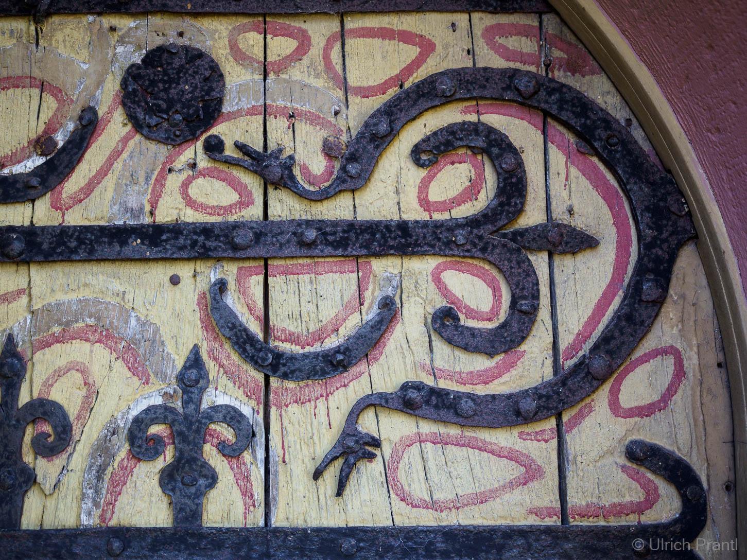 Eisenbeschläge der Eingangstüre zur Jakobksirche