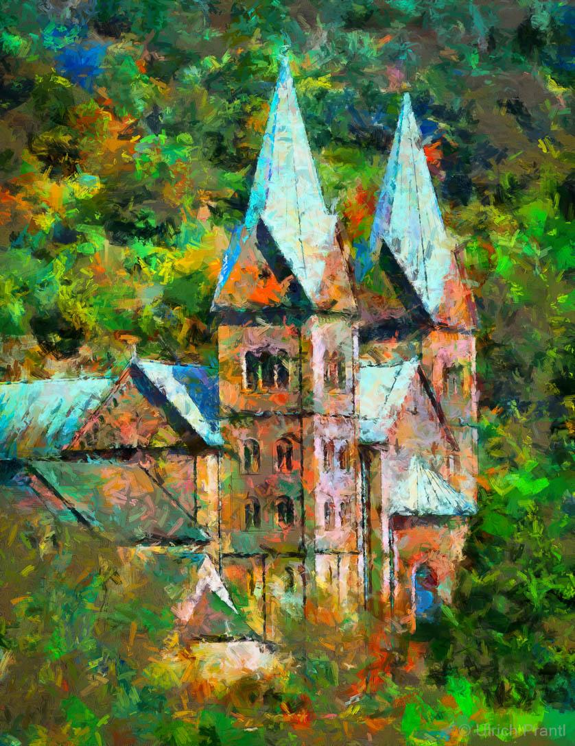 Gemälde Klosterkirche Neustadt am Main
