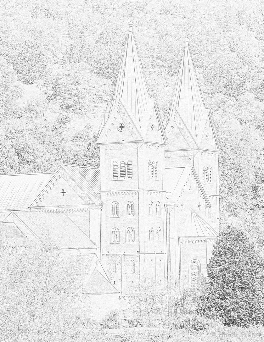 Malvorlage Klosterkirche Neustadt am Main