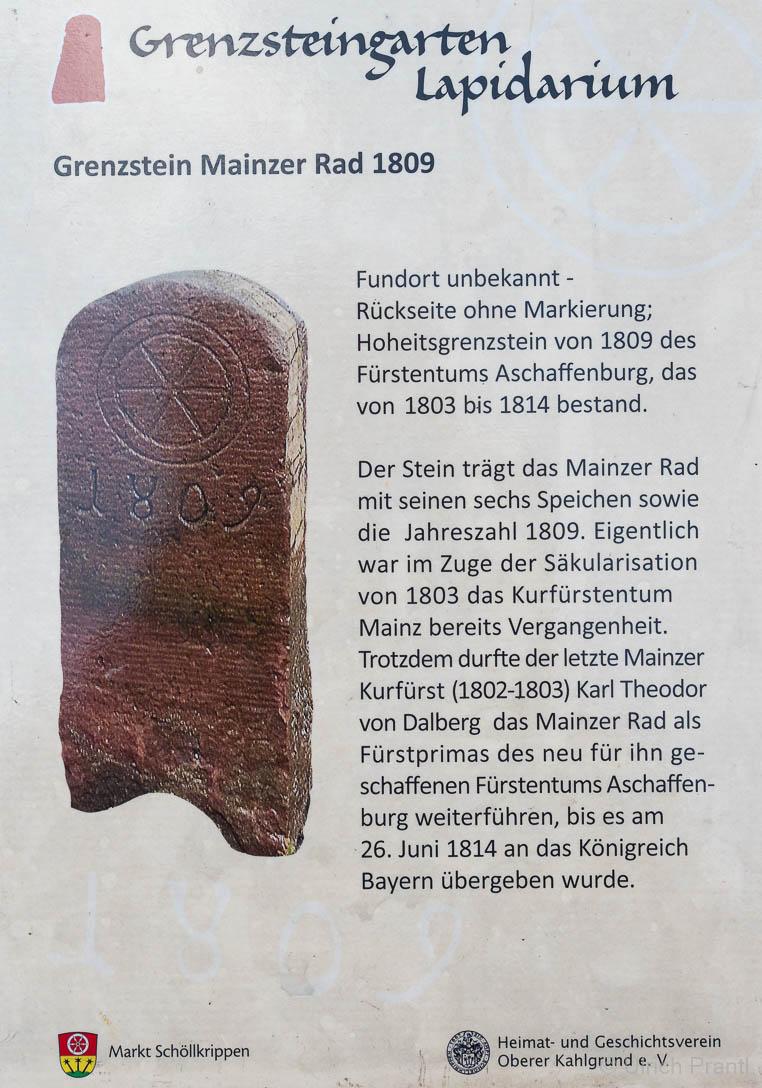 Schöllkrippen, Grenzsteingarten