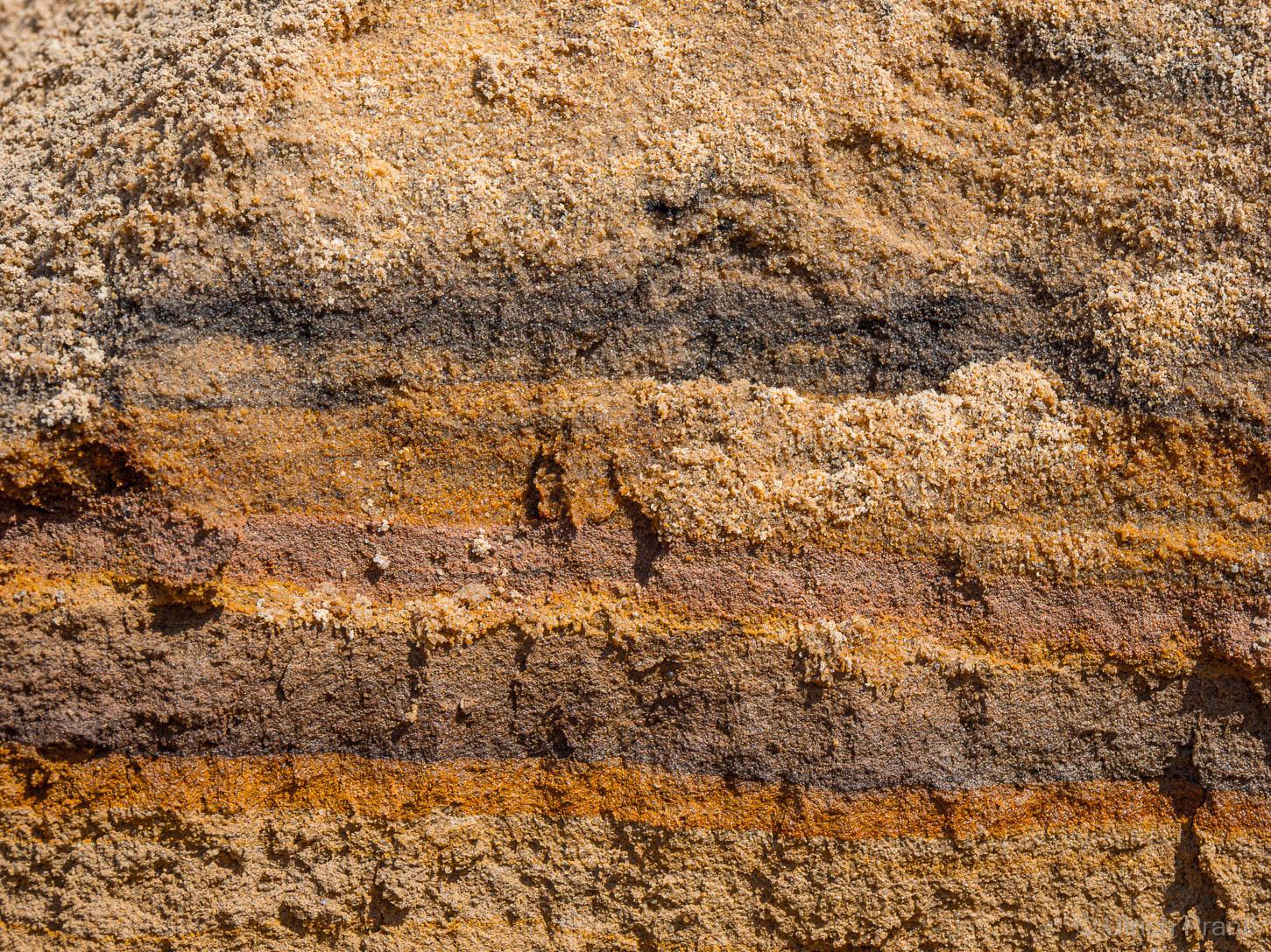 Sandgrube Alzenau, Bunte Sande